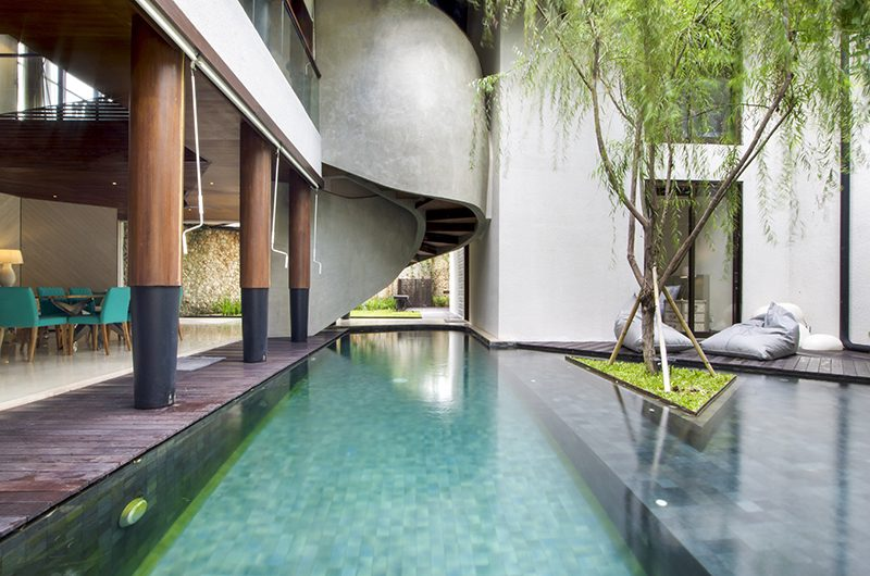 Villa Summer Dining Area with Pool View   Petitenget, Bali