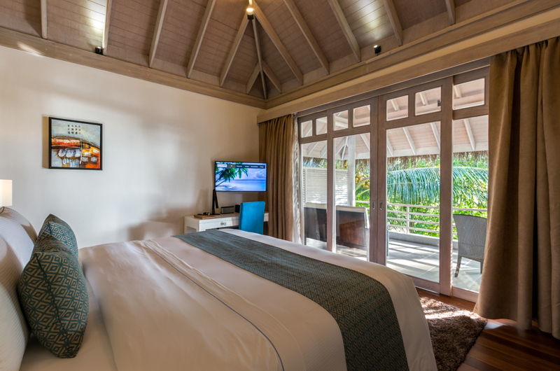 Amaya Kuda Rah Beach Suite Bedroom with Balcony | South Ari Atoll, Maldives