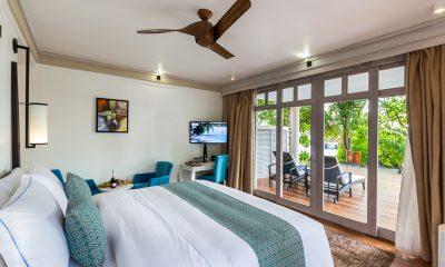Amaya Kuda Rah Family Duplex Beach Villa Bedroom | South Ari Atoll, Maldives