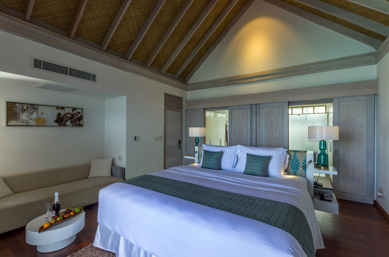 Amaya Kuda Rah Water Villa Bedroom Area | South Ari Atoll, Maldives
