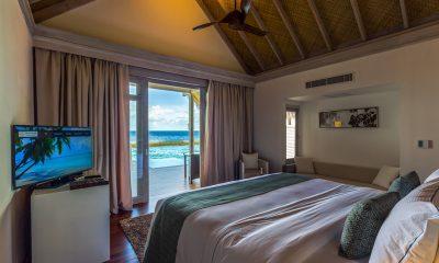 Amaya Kuda Rah Water Villa Bedroom | South Ari Atoll, Maldives