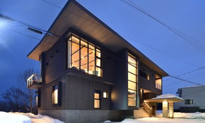 Jun Building Night View | Hirafu, Niseko