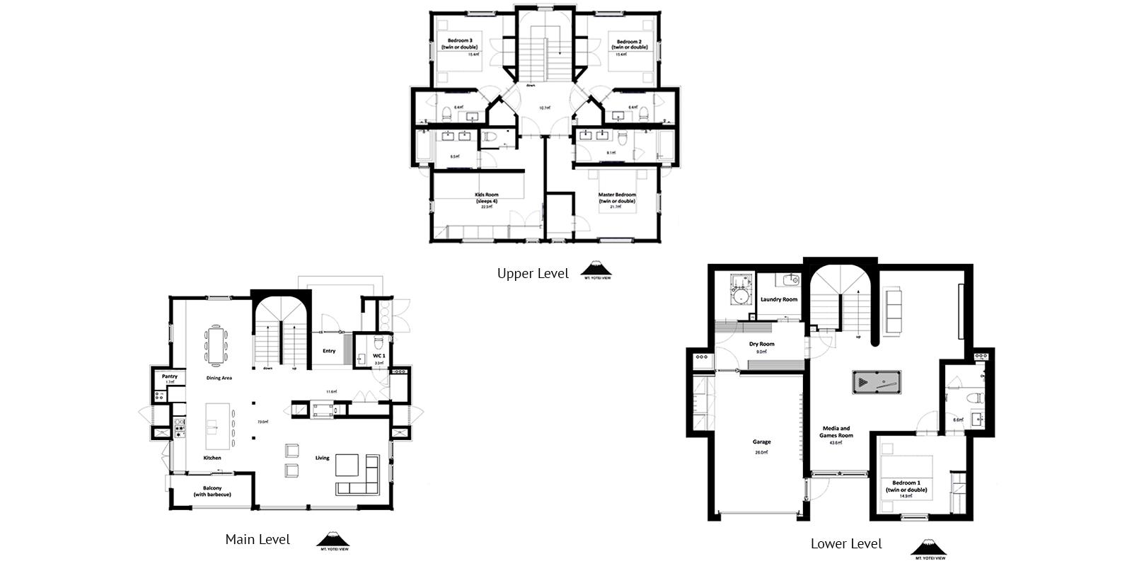 Kokoro Floor Plan | Hirafu, Niseko
