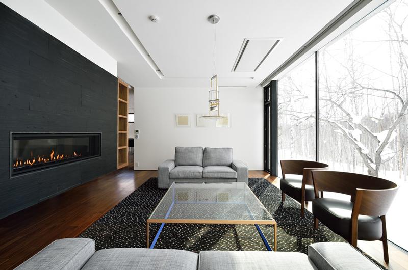 Mukashi Mukashi Living Area   Hirafu, NIseko