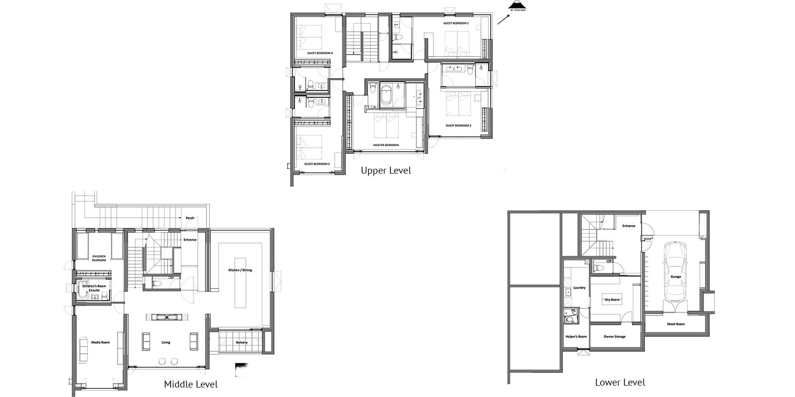 Mukashi Mukashi Floor Plan | Hirafu, NIseko