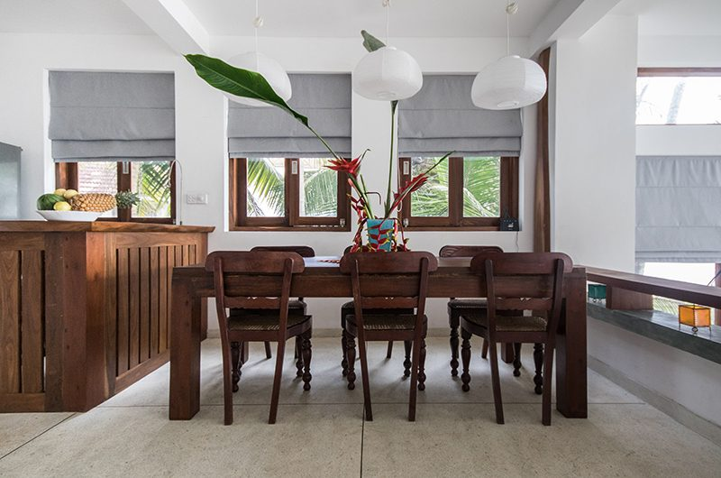 Skinny Beach House Dining Table | Talpe, Sri Lanka