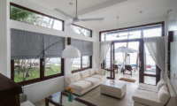 Skinny Beach House Living Area with Ocean View | Talpe, Sri Lanka
