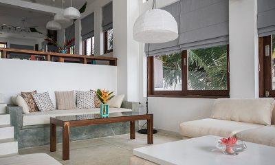 Skinny Beach House Living Area | Talpe, Sri Lanka