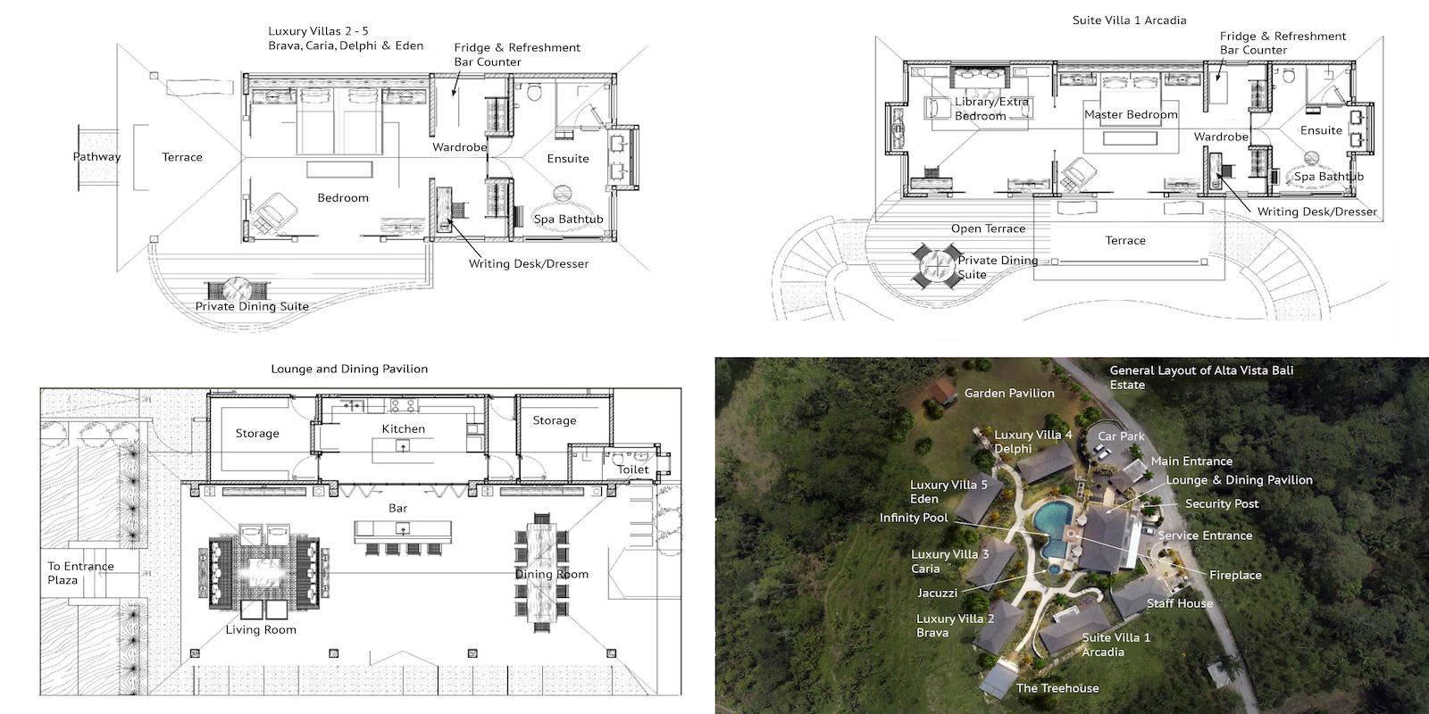 Alta Vista Floor Plan   North Bali, Bali