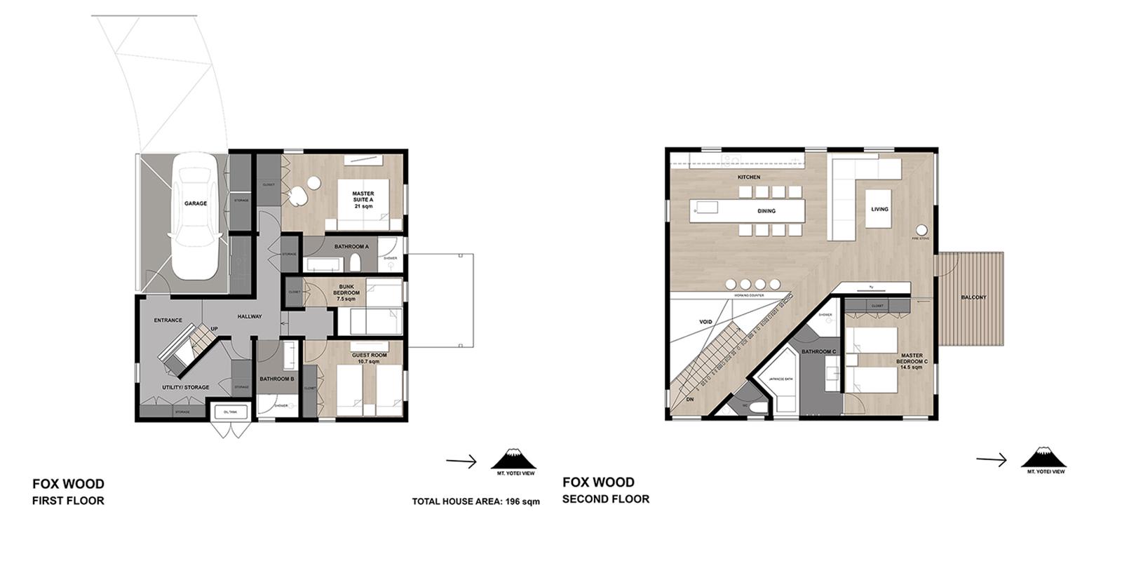 Foxwood Floor Plan | Hirafu, NIseko
