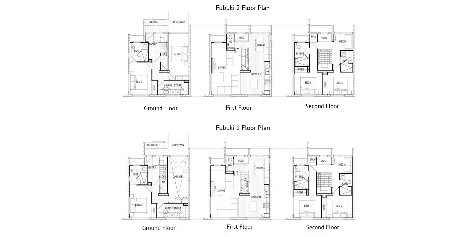 Fubuki Floor Plan | Hirafu, NIseko