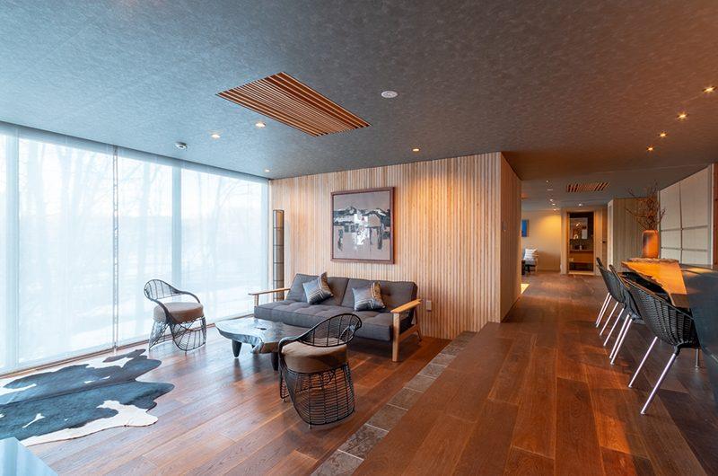 Hideaway on Escarpment Living and Dining Area | Hirafu, Niseko