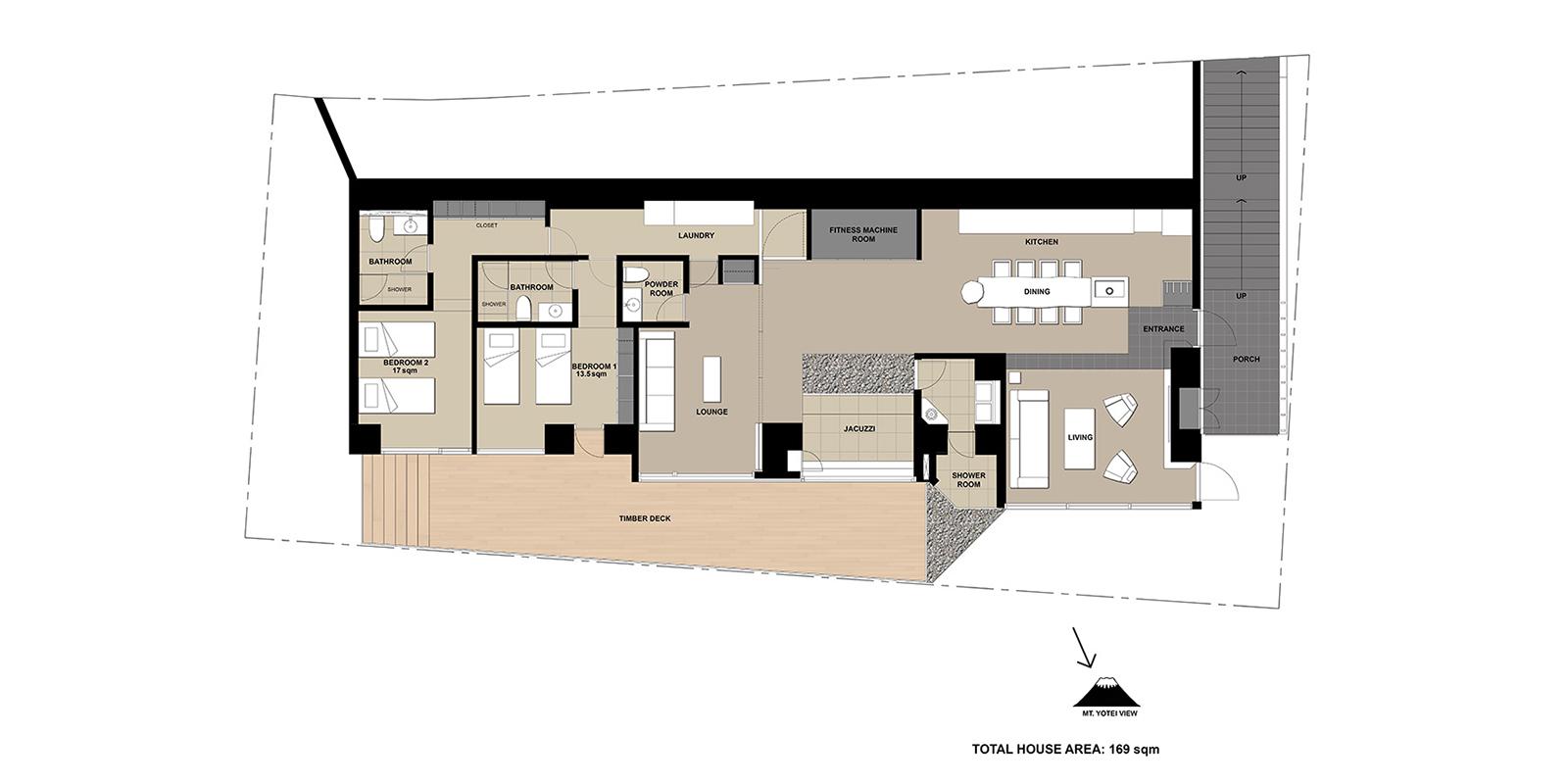 Hideaway on Escarpment Floor Plan | Hirafu, Niseko