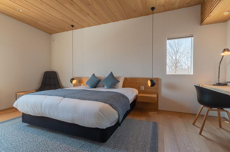 Silver Dream Bedroom Area with Study Table | Hirafu, Niseko