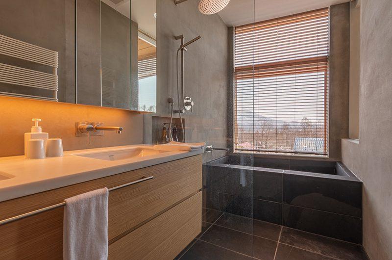 Silver Dream Bathroom with Japanese Bathtub | Hirafu, Niseko