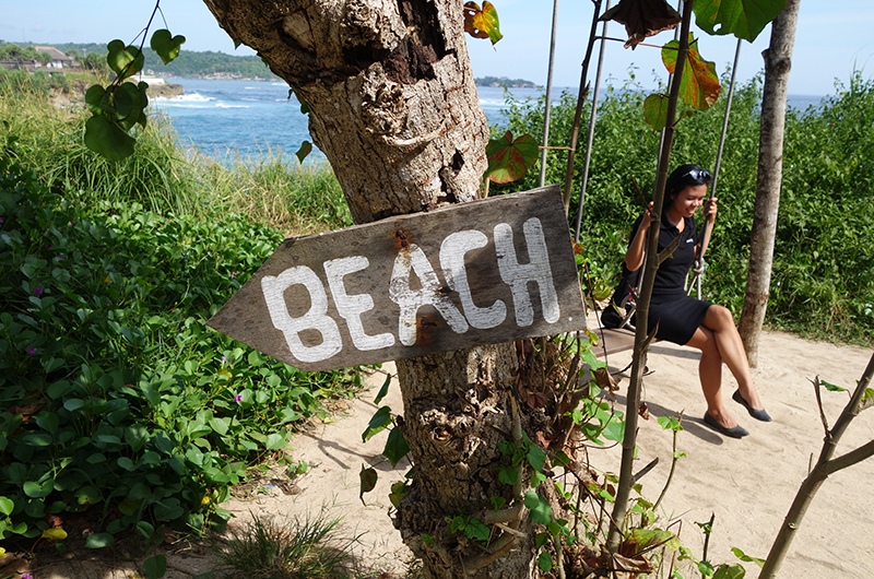 Nusa Lembongan Dream Beach Sign