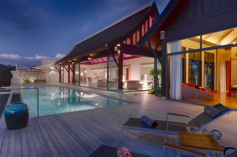 Villa Rodnaya Pool Area with Sun Decks | Naithon, Phuket