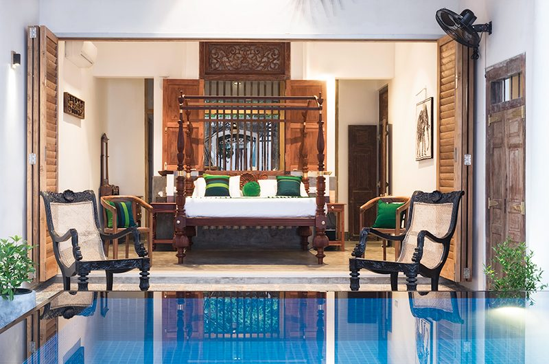 Royal Indigo Villa Bedroom Area with Seating | Talpe, Sri Lanka