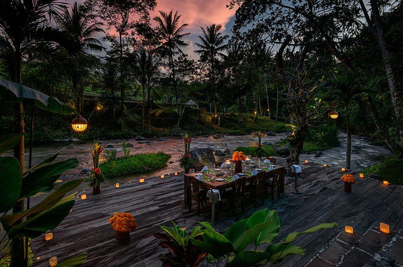 Permata Ayung Romantic Dining Area | Ubud, Bali