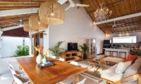Villa Crystal Dining and Living Area | Seminyak, Bali