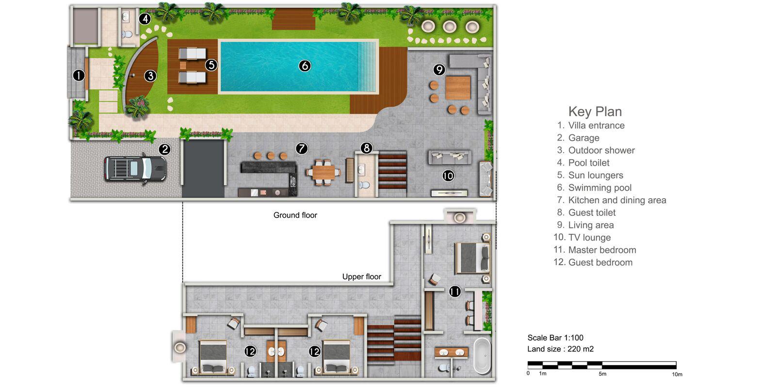 Villa Paloma Seminyak Floor Plan | Seminyak, Bali