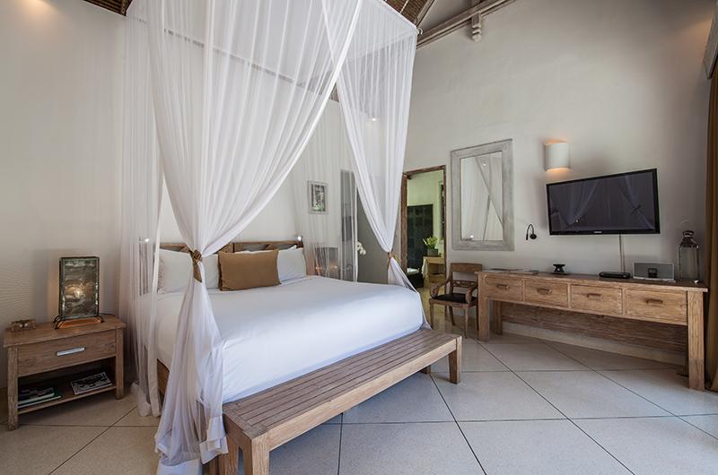 Villa Sungai Bali Villa Gold Bedroom Area with TV | Tabanan, Bali