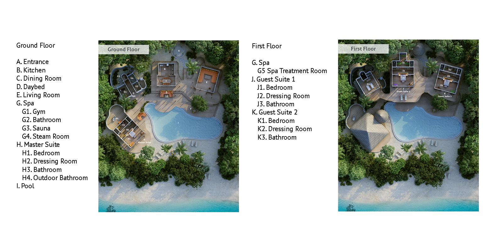 Soneva Fushi Villa 14 Floor Plan | Baa Atoll, Maldives