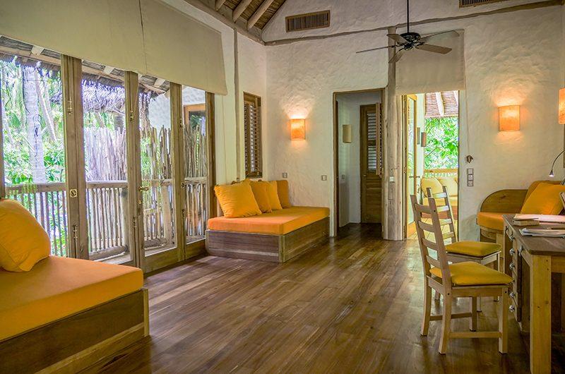 Soneva Fushi Villa 68 Living Room with Study Table | Baa Atoll, Maldives