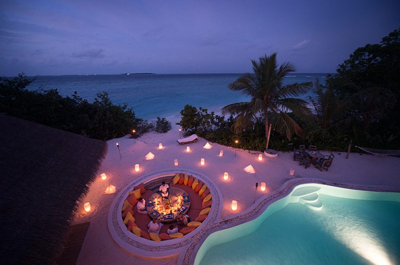 Soneva Fushi Villa One Open Plan Dining Area | Baa Atoll, Maldives