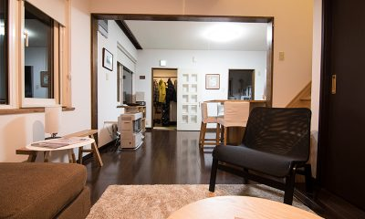 Kuma Cabin Living Area | Hirafu, Niseko