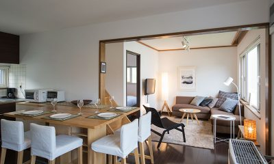 Kuma Cabin Dining and Living Area | Hirafu, Niseko