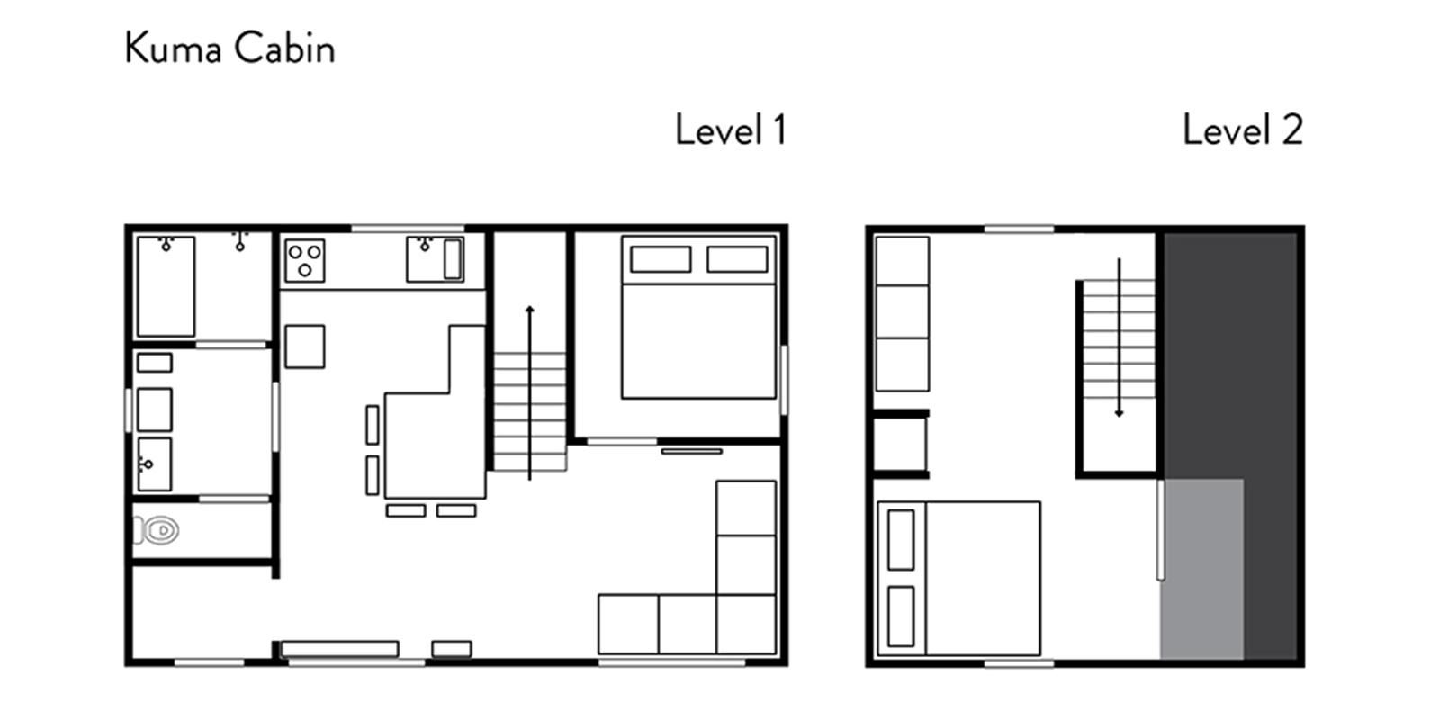 Kuma Cabin Floor Plan | Hirafu, Niseko