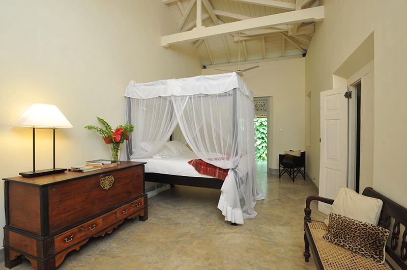 Kimbulagala Watte Villa Bedroom Side with Lamps | Koggala, Sri Lanka