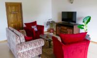 Koggala House Living Room with TV   Koggala, Sri Lanka