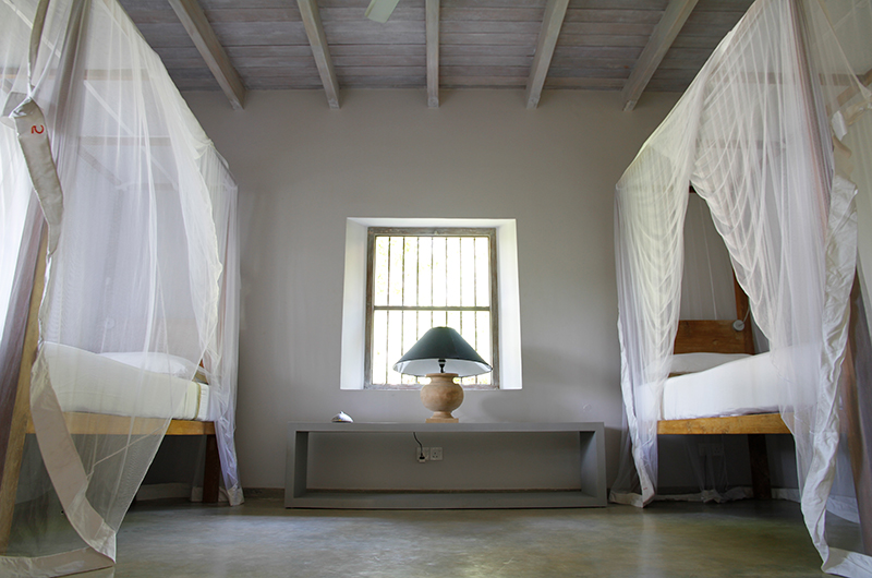 Siri Wedamadura Villa Twin Bedroom with Lamps | Mirissa, Sri Lanka