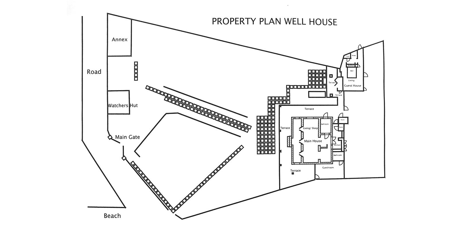 The Well House Floor Plan | Galle, Sri Lanka