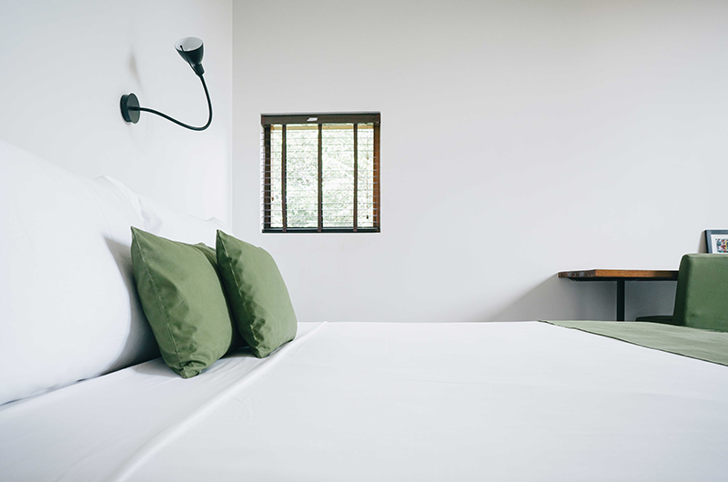 Villa Ni Say Bedroom Area with Lamps | Siem Reap, Cambodia