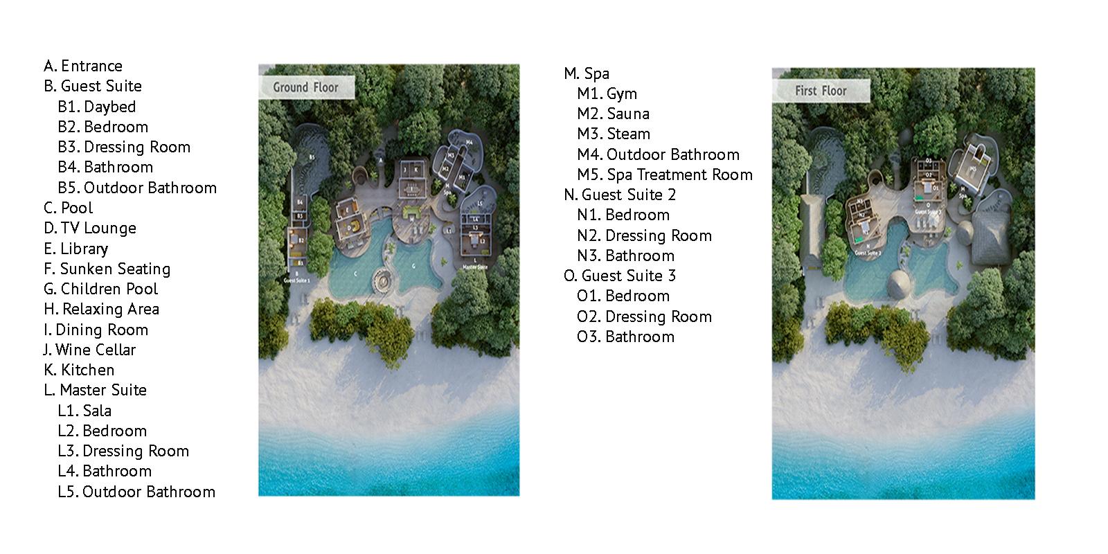 Soneva Fushi Jungle Reserve Floor Plan | Baa Atoll, Maldives