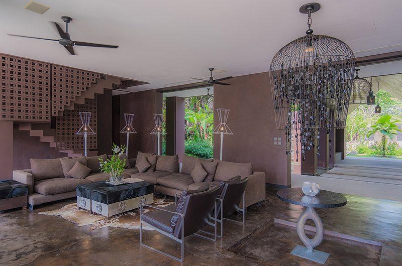 Villa Saanti Living Area | Natai, Phang Nga