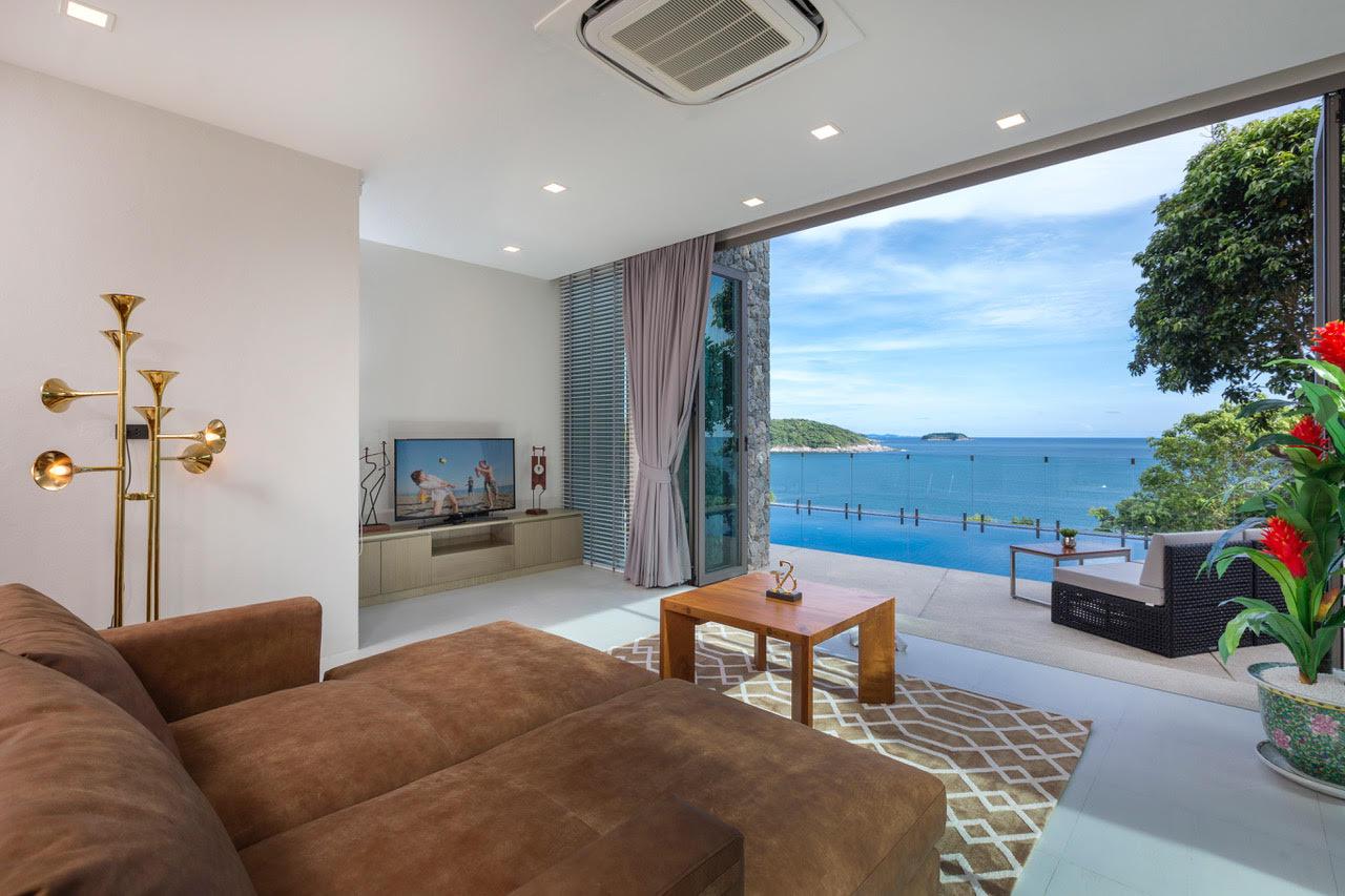 Villa Thousand Hills Living Room with Balcony | Phuket, Thailand