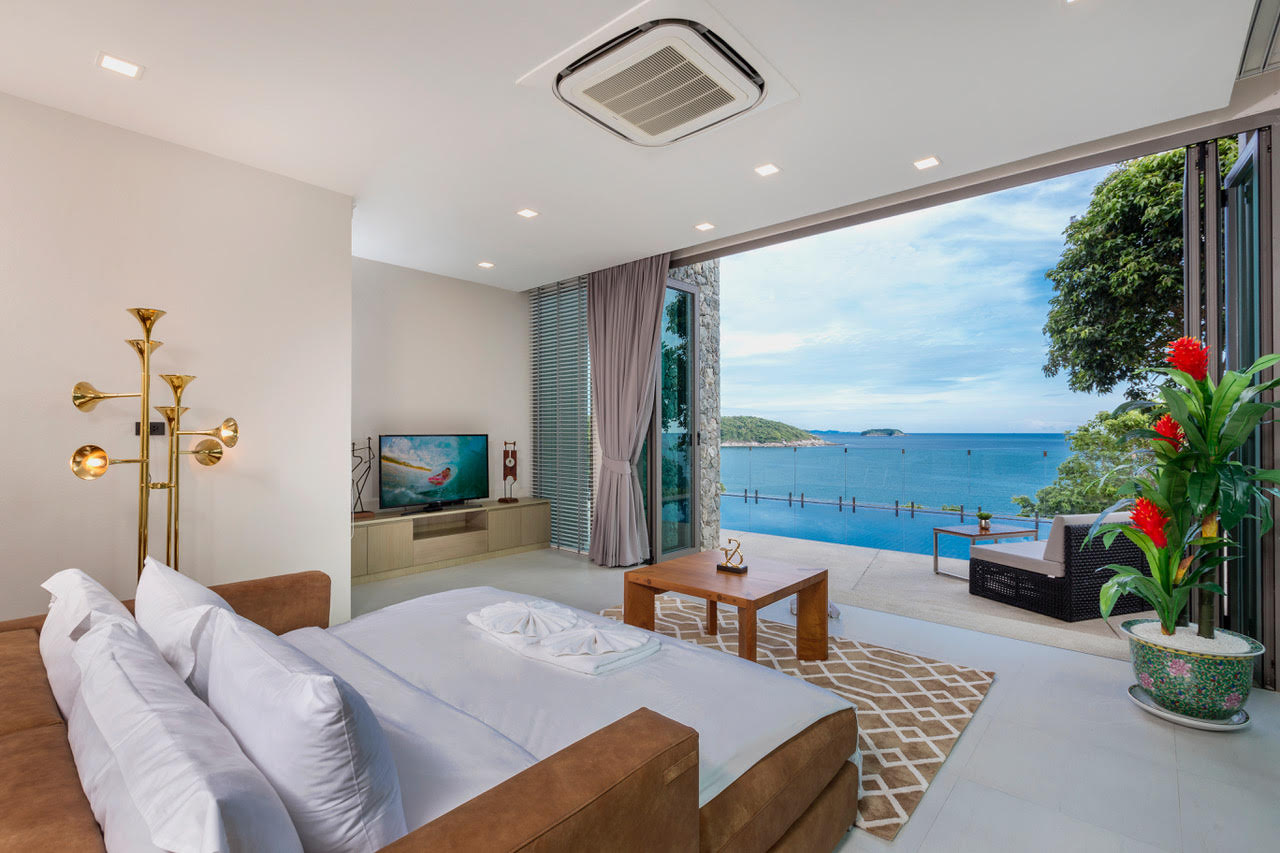 Villa Thousand Hills Living Room with Sea View | Phuket, Thailand