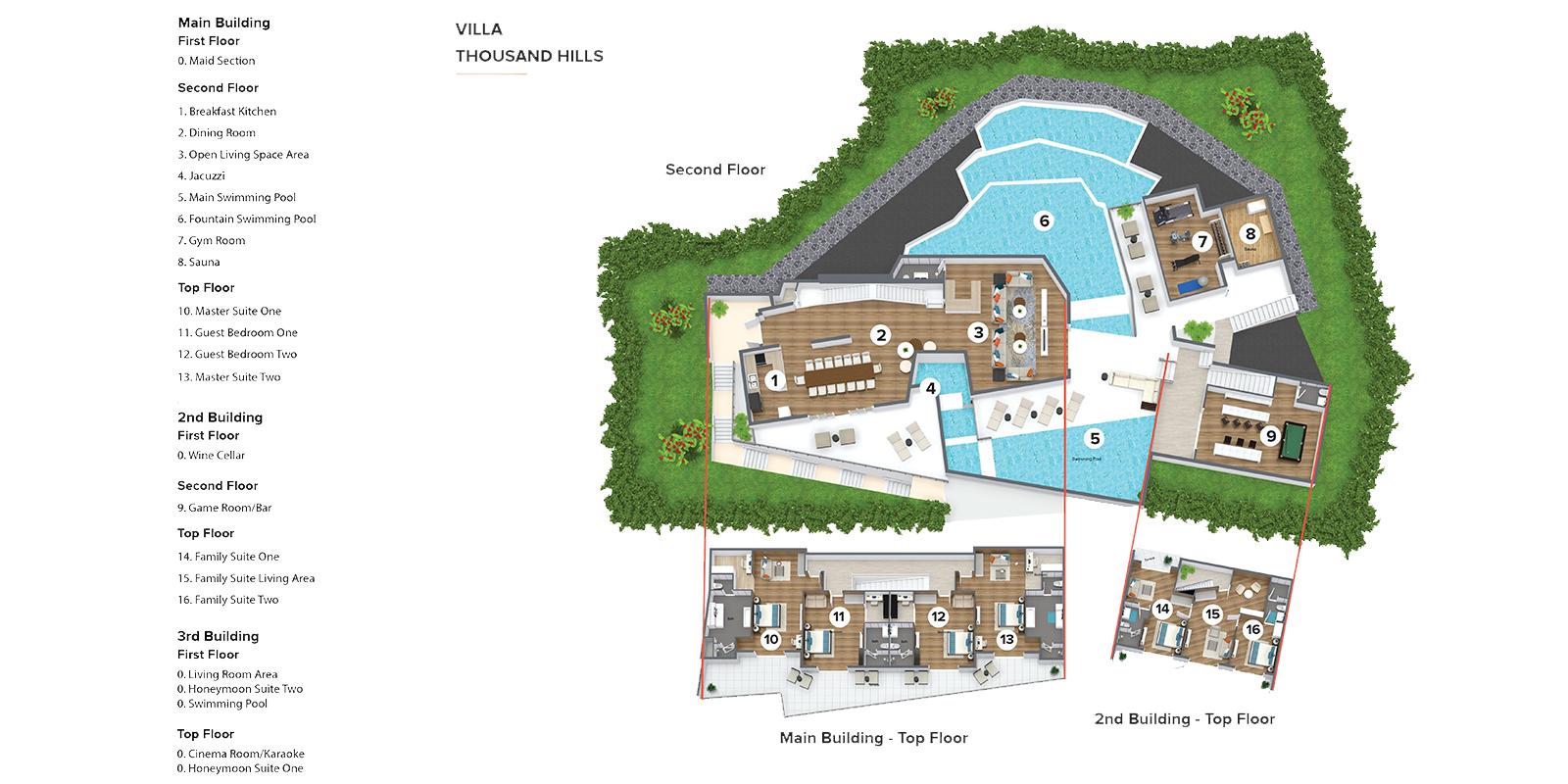Villa Thousand Hills Floor Plan | Phuket, Thailand