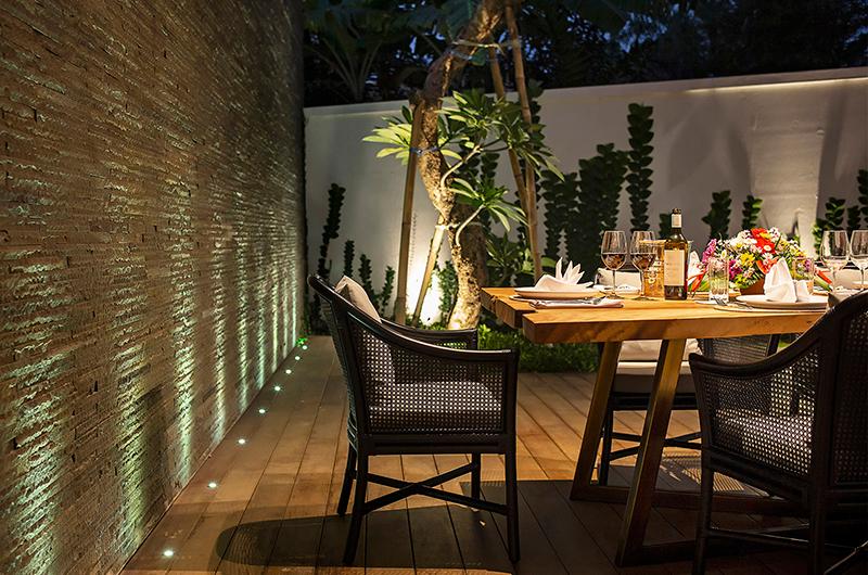 Villa Indrani Romantic Dining Area   Canggu, Bali