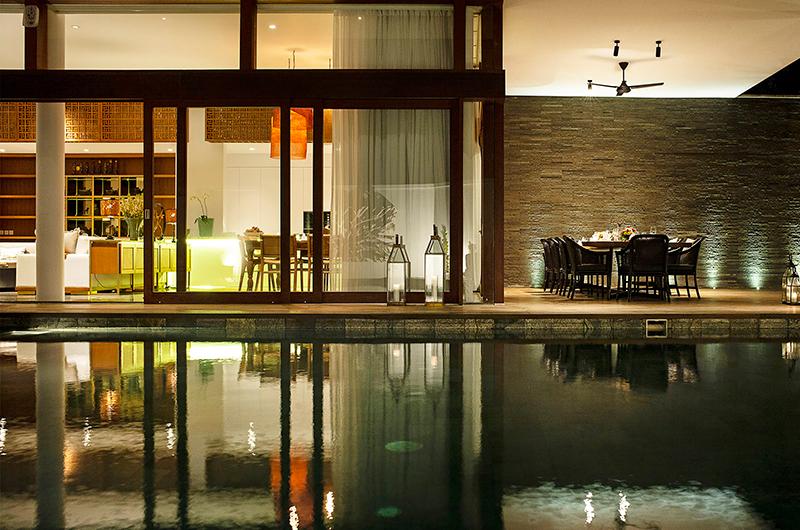 Villa Indrani Night View Pool   Canggu, Bali