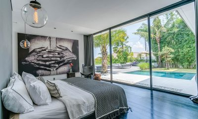 Villa La Dacha Master Bedroom with Pool View | Canggu, Bali