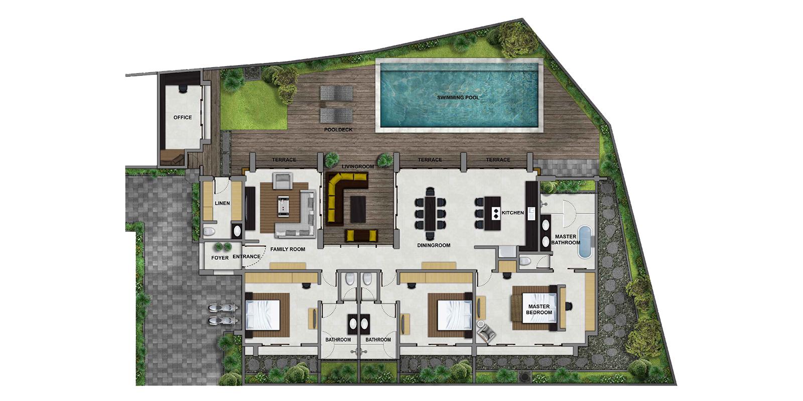Villa Luna Aramanis Floor Plan | Seminyak, Bali