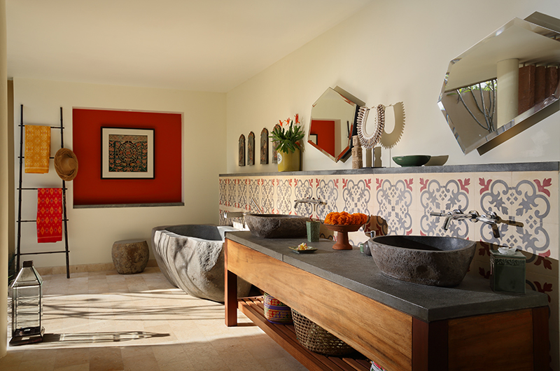Villa Palem Bathroom with Bathtub | Tabanan, Bali