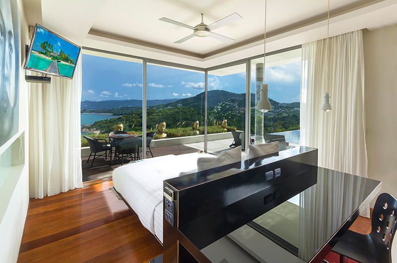 Villa Sangkachai Master Bedroom with TV | Choeng Mon, Koh Samui