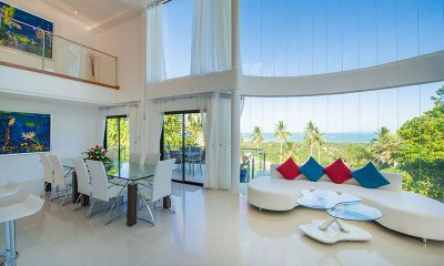 White Stone Living Area with Ocean View | Nathon, Koh Samui