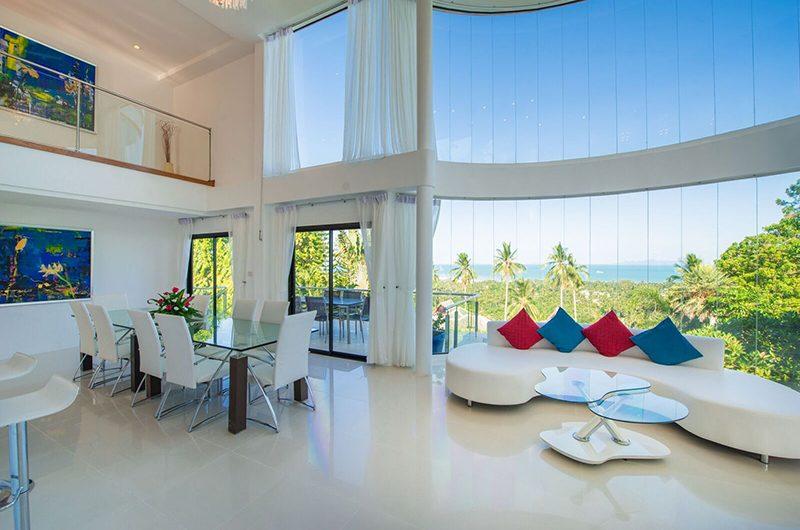 White Stone Living Area with Ocean View | Nathon, Koh Samui